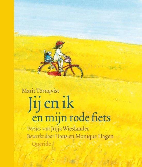 Cover van het boek 'Jij en ik en mijn rode fiets' van Juja Wieslander