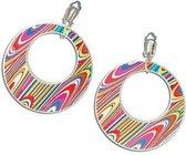 60s disco oorbellen gekleurd