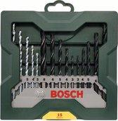 15-delige Bosch X-Line borenset voor hout, metaal en steen