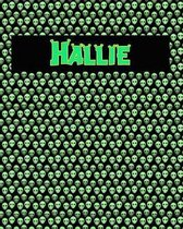 120 Page Handwriting Practice Book with Green Alien Cover Hallie
