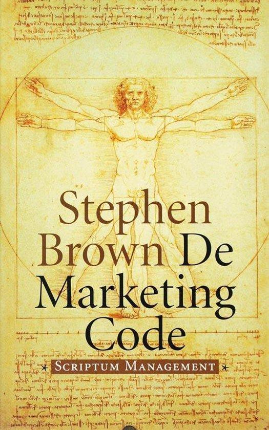Cover van het boek 'De Marketing Code' van S. Brown