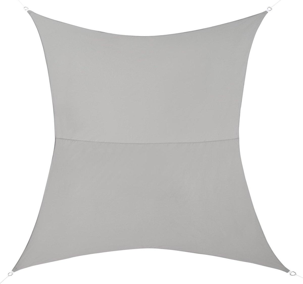 Schaduwdoek - waterafstotend rechthoekig 2x3 m lichtgrijs