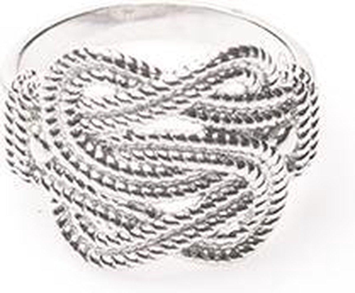 Mattenklopper ring  - Zilver - 16.00 mm (50) - Fokko Design