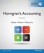 Boek cover Horngrens Accounting, Global Edition van Tracie Miller-Nobles (Paperback)