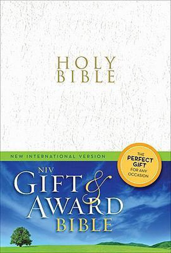 NIV, Gift and Award Bible, Leather-Look, White, Red Letter Edition - Zondervan  