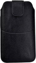 Nokia 8 Zwart insteekhoesje met riemlus en opbergvakje