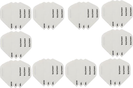 10 sets (30 stuks) Super Sterke Witte Poly XS100 - flights - dartflights