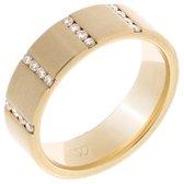 Orphelia RD-B3304/6/DJ/54 - Ring - geelgoudkleurige 18 Karaat - Diamant 0.19 ct