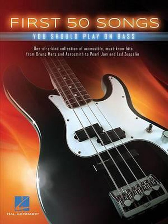 Boek cover First 50 Songs You Should Play on Bass van Hal Leonard Corp. (Paperback)