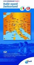 ANWB wegenkaart 2 - Italië Noord Zwitserland