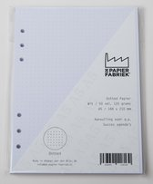 Aanvulling A5 Dotted Wit 116g/m² Notitiepapier voor o.a. Succes, Filofax (Clipbook) Planners 100 Pag + 5 Tab KB