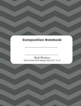 Black Stripe Composition Notebook