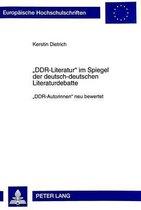-Ddr-Literatur- Im Spiegel Der Deutsch-Deutschen Literaturdebatte
