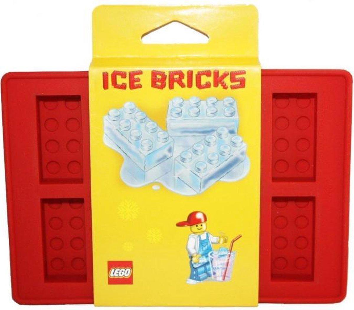 LEGO 852768 steen ijsblokjes vorm (rood)
