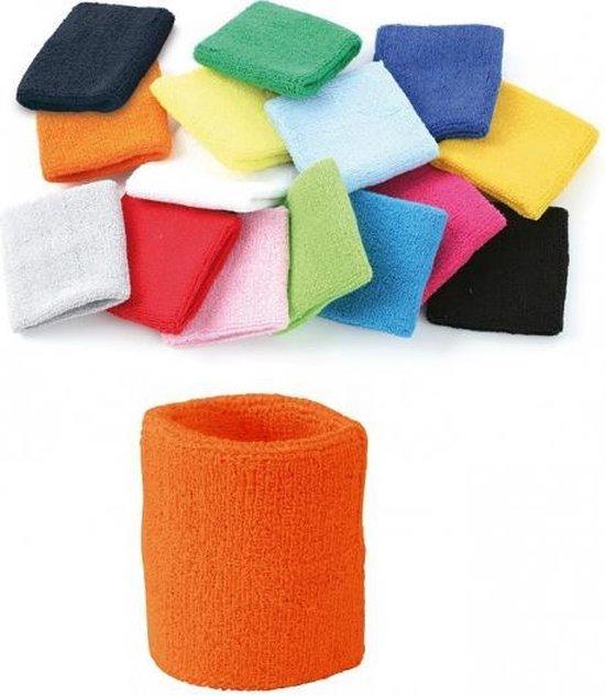 Oranje zweetbandje voor de pols