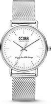 CO88 Collection Watches 8CW 10002 Horloge - Mesh Band - Ø 36 mm - Zilverkleurig