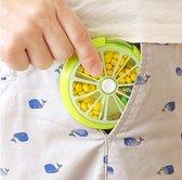 Afbeelding van Pillendoos|Pillen Organizer|Medicijn Doosje|Lime Groen