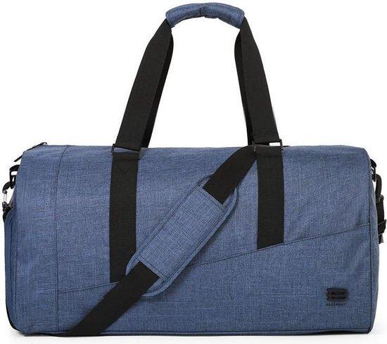 Reis Duffel Bag - 40L - Reistas Met Ingebouwde Schoenen Ruimte - Verstelbare Schouderriem - Blauw