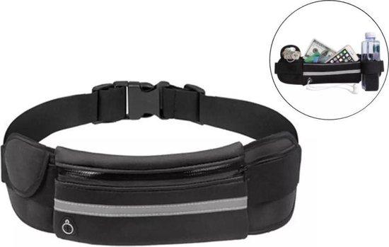 2 paar heuptasjes sport – running belt – hardlooptas - verstelbare buideltas – zwart en roze - set van 2 stuks