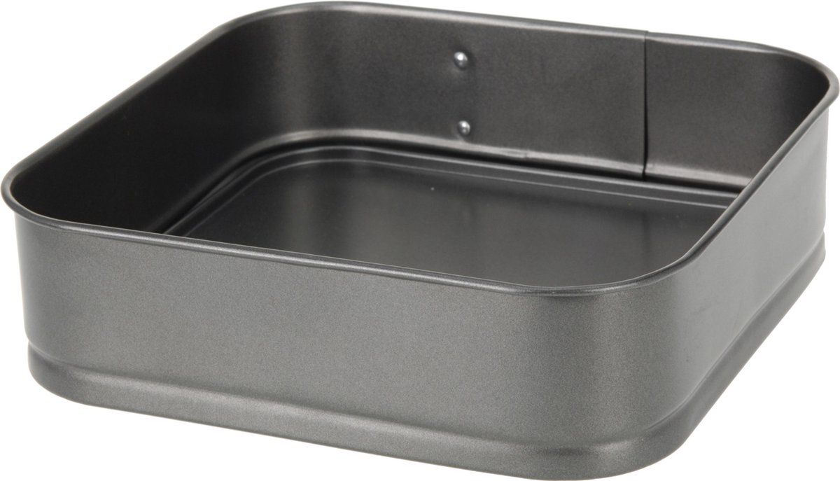Excellent Houseware Vierkante Springvorm - Non Stick - 24 x 24 x 6,5 cm - Excellent Houseware