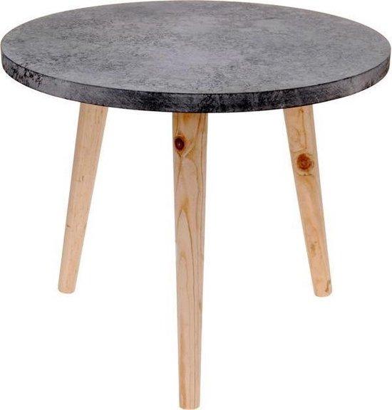 Relaxwonen bijzettafel - Cement/beton look - Design - Industrieel - Ø 39 cm