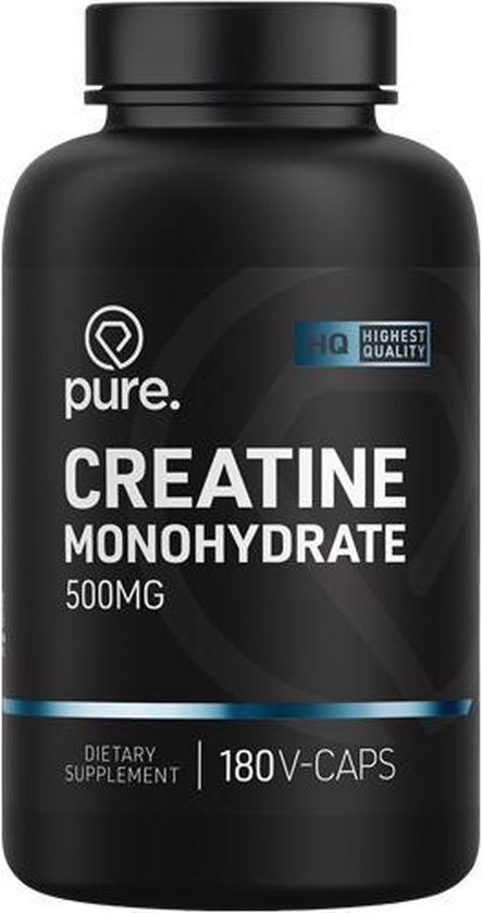PURE Creatine Monohydraat - 180 V-Caps - 500 mg - capsules - supplement