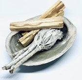 Reinig je huis pakket Soulfloating| Smudge Kit | Witte salie, Palo Santo sticks, Abalone schelp incl handleiding NL
