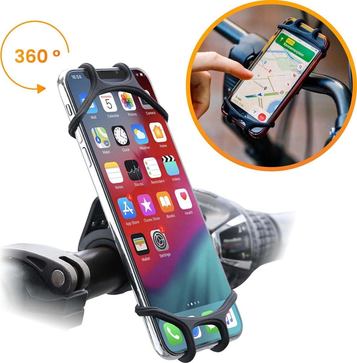 R2B Telefoonhouder Fiets met 360 graden rotatie - Universeel - Gsm houder fiets - Fiets telefoonhoud