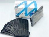 AnPhu - Kleur Zwart - 50 stuks - Hoge Kwaliteit - 4 Lagen - Mondkapje - Wegwerp masker - Met Neusklip - Geen irritatie - Niet Medisch - Gratis Verzending