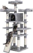 Nancy's XXL Krabpaal voor katten - Kattenboom - Grijs - 60 x 55 x 172 cm