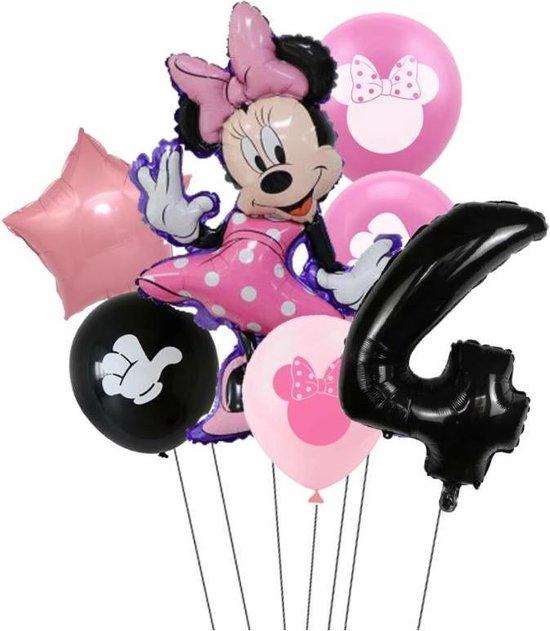 7 stuks ballonnen Minnie Mouse thema - verjaardag - 4 jaar - 80cm