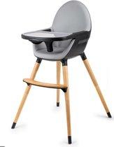 Blij'r Bobbie – 2 in 1 Eetstoel & Kinderstoel –  zwart