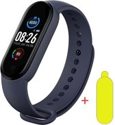 Smartwatch Dames-Smartwatch Stappenteller -Sport horloge -Smartwatch Heren- Smartwatch Kinderen-Activity Tracker -Bloeddrukmeter - Hartslagmeter- Afstandmeter- Calorieënteller-Fitness Tracker-Zuurstofmeter-Alternatieve Fitbit- Screenprotector-Blauw