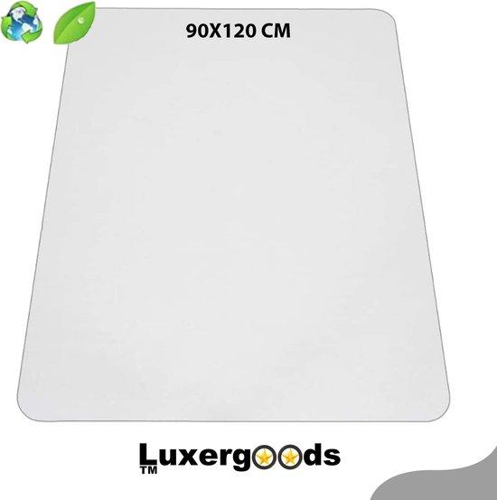 Luxergoods bureaustoelmat PVC - 90x120 cm- Met Hoekbesschermers - Vloermat bureaustoel - Vloerbeschermer - Beschermt harde vloer - Transparent