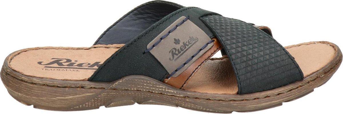 Rieker heren slipper - Blauw - Maat 43