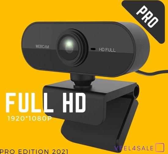 Webcam Voor PC - 1080p - Full HD - Portable - HQ - Met Microfoon - 2021 Model - Thuis Werken - Lichtgewicht - Compact - Mac, Windows, HP, Lenovo, Dell - USB2.0 aansluiting - 1920x1080 Resolutie Camera - Online Vergaderen - Camera Voor Pc