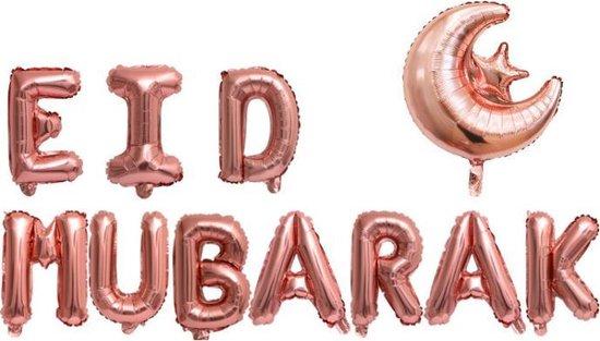EID MUBARAK balloon Muslim Ramadan Bayram Moubarak Siukerfeest stars and moon ballonnen bollon ballonen balonnen decoration decoratie  letter foil 16 inch