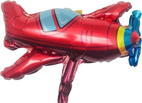 Folie ballon Vliegtuig rood, kindercrea