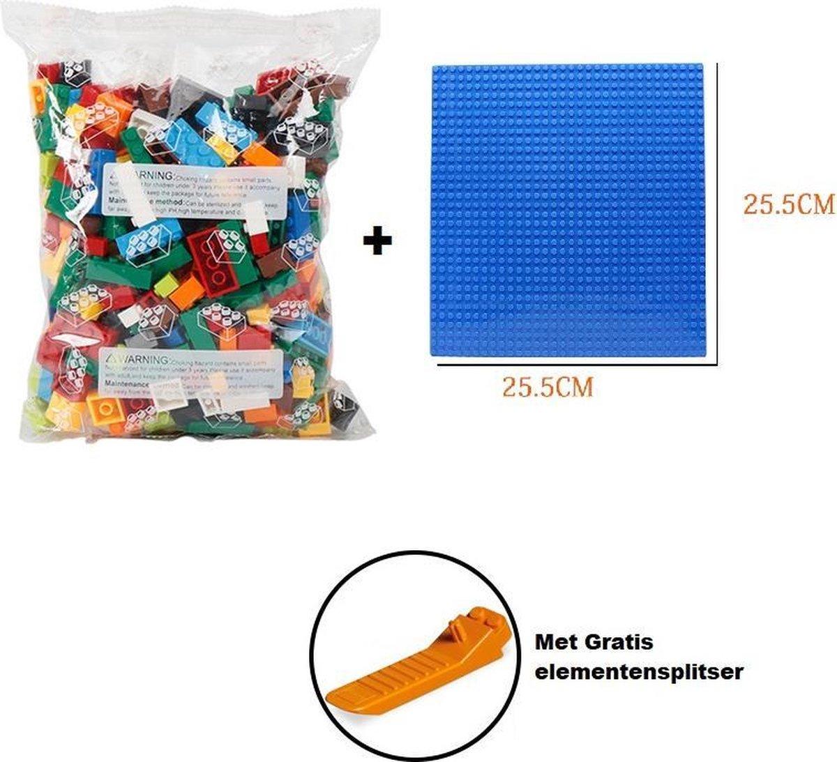 Replica Lego bouwstenen met Opbergmand | Bouwstenen | Verenigbaar met LEGO | 2 in 1 Speelgoed Opberg Kleed | Speelgoed Organize |Compatible with LEGO | Contructie Speelgoed | Inclusief Bouwplaten en LEGO elementensplitser | Bouwstenen Set Normaal