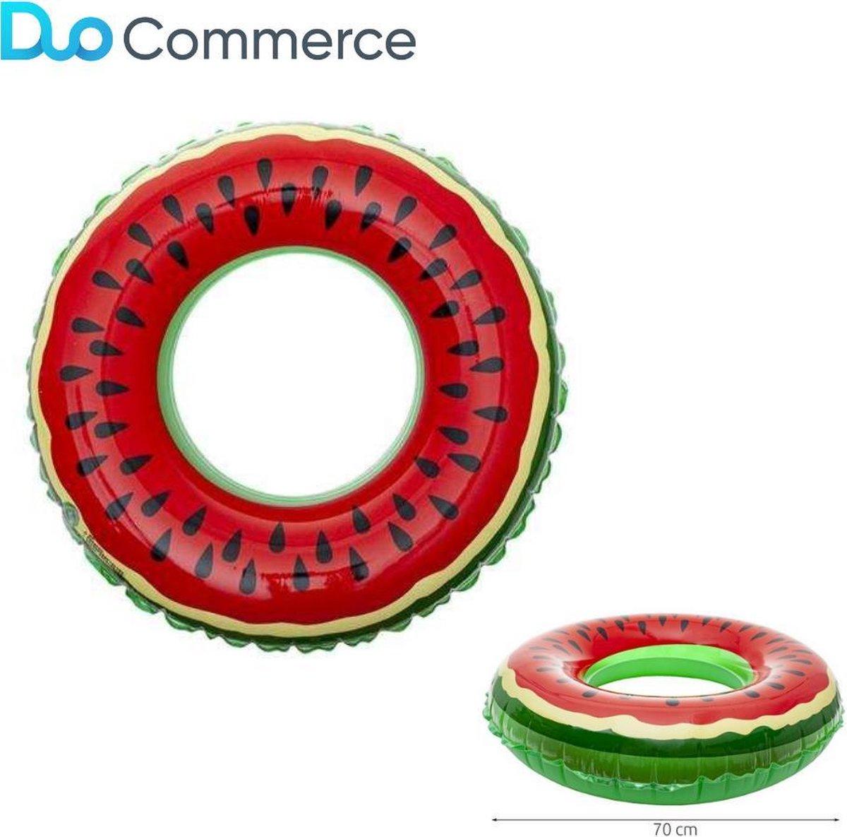 Duo Commerce Watermeloen 70 cm Zwemband - Water Speelgoed Speelgoed Kinderen t/m 12 jaar