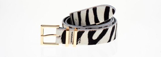 Elvy Fashion – Skin Belt Women 30402 – Black Zebra – Size 85