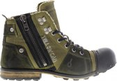 Yellow cab | Industrial 2-i khaki canvas/suede boots | Maat: 45