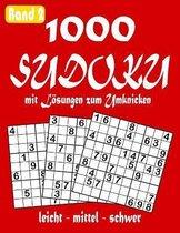 1000 Sudoku mit Loesungen zum Umknicken leicht - mittel - schwer