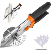 Plintenschaar - Plintenknipper - Laminaatknipper - Plintenknipper laminaat - Verstekschaar - PVC knipper - Buizenschaar - Hoek van 45 - 135°