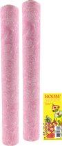 3-IN-1 ROL Tafelloper en Placemats – Roze - 38 cm x 3,8 meter - 2 Stuks