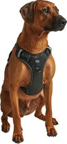Hondentuigje - Anti-Trek Tuig - Hondenharnas - Reflecterend - Zwart - Maat L