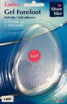Comfortabele 3D-Gel Voorvoet Zooltjes vrouwen (Maat 1) - Gelzooltjes / Voorvoet Gel / Beschermers / Cups / Gelzolen / Inlegzool / Steunzool/ hakzolen /
