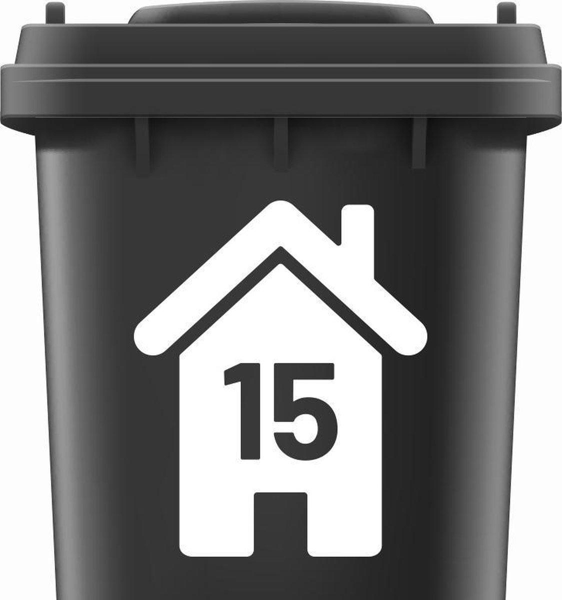 Container stickers huisnummer WIT   Kliko sticker voordeelset   Cijfer stickers weerbestendige 12345