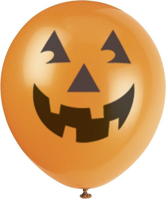 UNIQUE - 6 Halloweenballonnen - Decoratie > Ballonnen
