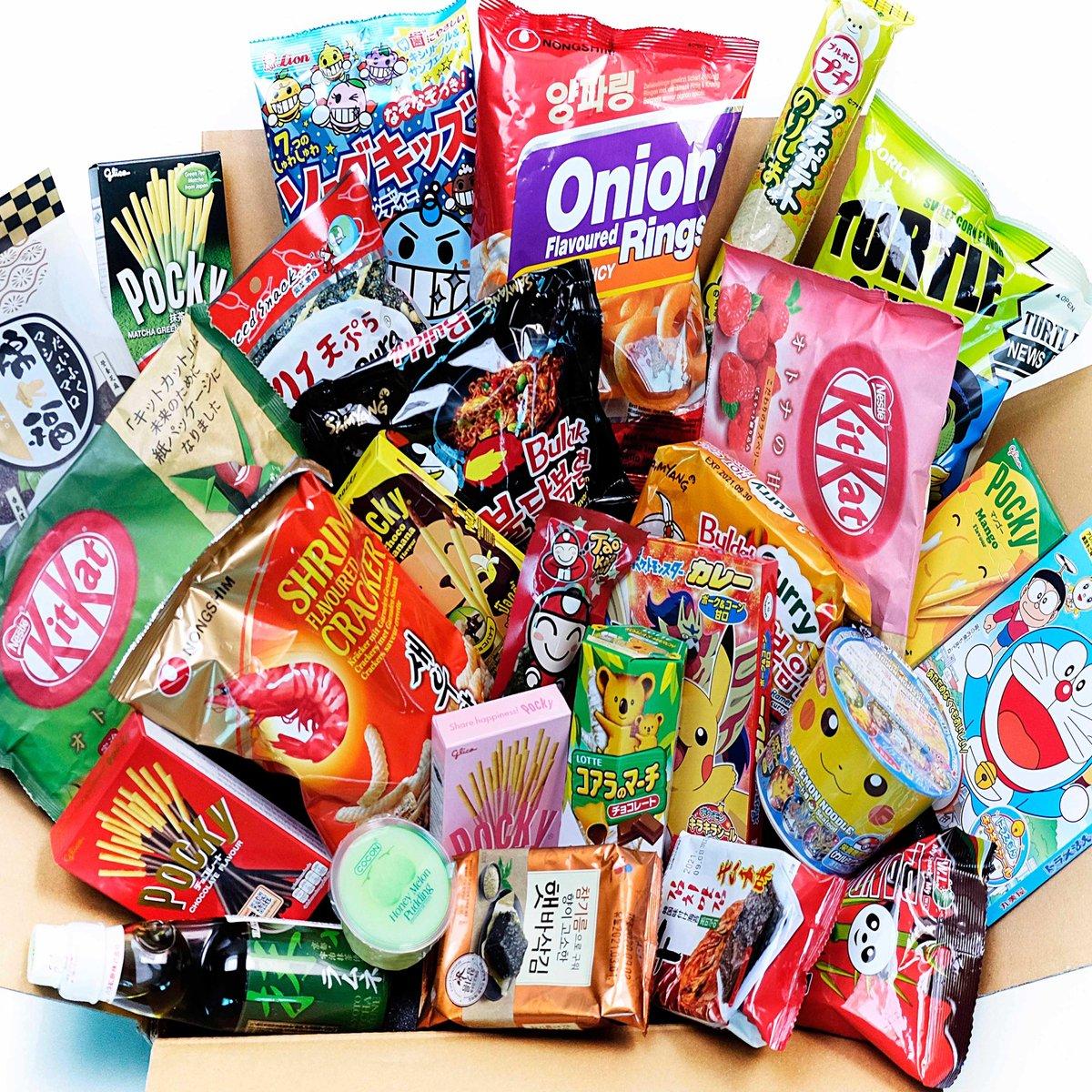 Korean Japans Snack Snoep Pakket Box - Matcha - Kitkat Chocolade - Pocky - Zoete en hartige snacks -